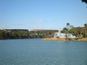 Imagem mostra a Lagoa da Pampulha que está nas proximidades do Le Jardin, na região da Pampulha.