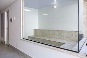 Imagem mostra foto do SPA do edifício Le Jardin, da Monterre Construtora.