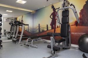 Imagem mostra foto da academia do edifício Le Jardin, da Monterre Construtora.