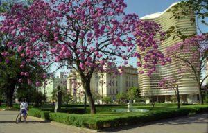 Imagem mostra a Praça da Liberdade, que fica nas proximidades do empreendimento Living Savassi.