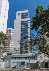 Foto da fachada do edifício living savassi